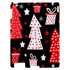 Red playful Xmas Apple iPad 2 Hardshell Case
