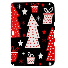 Red playful Xmas Samsung Galaxy Tab 8.9  P7300 Hardshell Case