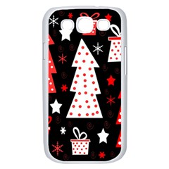 Red playful Xmas Samsung Galaxy S III Case (White)