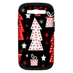 Red playful Xmas Samsung Galaxy S III Hardshell Case (PC+Silicone)
