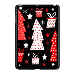 Red playful Xmas Apple iPad Mini Case (Black)