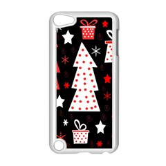 Red playful Xmas Apple iPod Touch 5 Case (White)