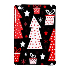 Red playful Xmas Apple iPad Mini Hardshell Case (Compatible with Smart Cover)