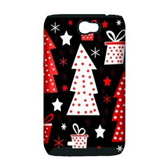 Red playful Xmas Samsung Galaxy Note 2 Hardshell Case (PC+Silicone)