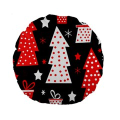 Red playful Xmas Standard 15  Premium Round Cushions