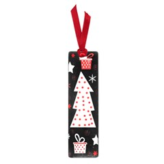 Red playful Xmas Small Book Marks