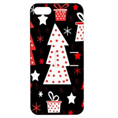 Red playful Xmas Apple iPhone 5 Hardshell Case with Stand