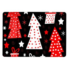 Red playful Xmas Samsung Galaxy Tab 10.1  P7500 Flip Case
