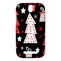 Red playful Xmas HTC One SV Hardshell Case