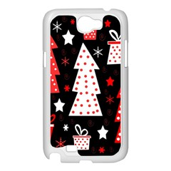 Red playful Xmas Samsung Galaxy Note 2 Case (White)