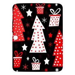 Red playful Xmas Samsung Galaxy Tab 3 (10.1 ) P5200 Hardshell Case