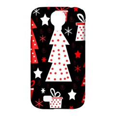 Red playful Xmas Samsung Galaxy S4 Classic Hardshell Case (PC+Silicone)