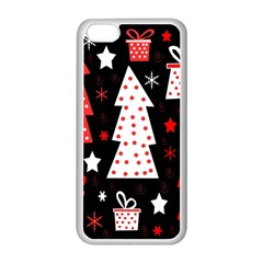 Red playful Xmas Apple iPhone 5C Seamless Case (White)