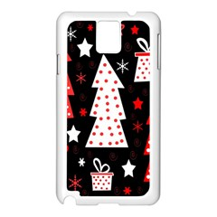 Red Playful Xmas Samsung Galaxy Note 3 N9005 Case (white)