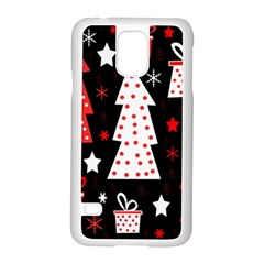 Red playful Xmas Samsung Galaxy S5 Case (White)