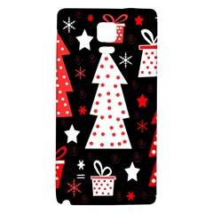 Red playful Xmas Galaxy Note 4 Back Case