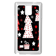 Red playful Xmas Samsung Galaxy Note 4 Case (White)