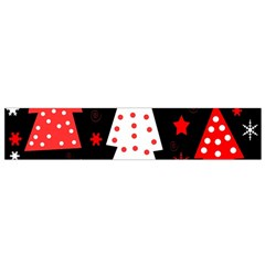Red playful Xmas Flano Scarf (Small)