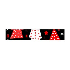 Red Playful Xmas Flano Scarf (mini)