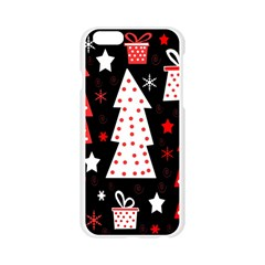 Red playful Xmas Apple Seamless iPhone 6/6S Case (Transparent)