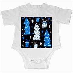 Blue playful Xmas Infant Creepers