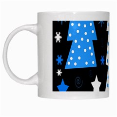 Blue playful Xmas White Mugs