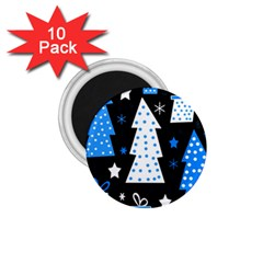 Blue playful Xmas 1.75  Magnets (10 pack)