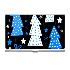 Blue playful Xmas Business Card Holders
