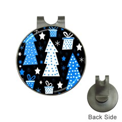 Blue playful Xmas Hat Clips with Golf Markers