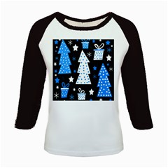 Blue playful Xmas Kids Baseball Jerseys