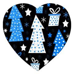 Blue playful Xmas Jigsaw Puzzle (Heart)