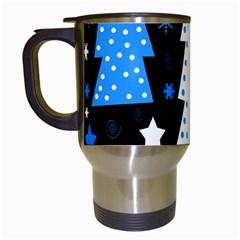 Blue playful Xmas Travel Mugs (White)