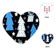 Blue playful Xmas Playing Cards (Heart)