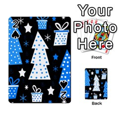 Blue playful Xmas Playing Cards 54 Designs