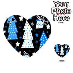 Blue playful Xmas Playing Cards 54 (Heart)