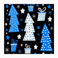 Blue playful Xmas Medium Glasses Cloth