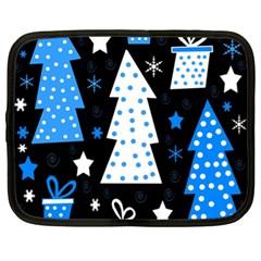 Blue playful Xmas Netbook Case (XL)