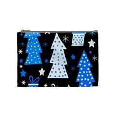 Blue playful Xmas Cosmetic Bag (Medium)
