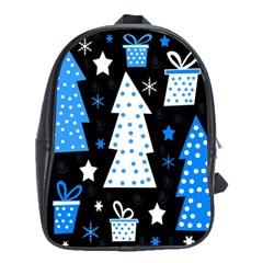 Blue playful Xmas School Bags(Large)