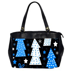 Blue playful Xmas Office Handbags (2 Sides)