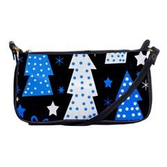 Blue playful Xmas Shoulder Clutch Bags
