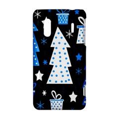 Blue playful Xmas HTC Evo Design 4G/ Hero S Hardshell Case