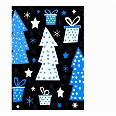 Blue playful Xmas Small Garden Flag (Two Sides)
