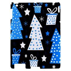 Blue playful Xmas Apple iPad 2 Hardshell Case