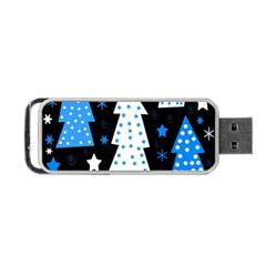 Blue playful Xmas Portable USB Flash (Two Sides)