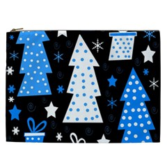 Blue playful Xmas Cosmetic Bag (XXL)