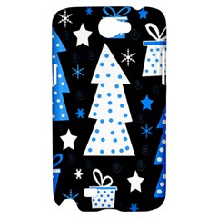 Blue playful Xmas Samsung Galaxy Note 2 Hardshell Case