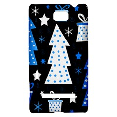 Blue playful Xmas HTC 8S Hardshell Case