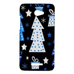 Blue playful Xmas HTC Butterfly X920E Hardshell Case