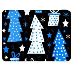 Blue playful Xmas Samsung Galaxy Tab 7  P1000 Flip Case